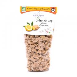 Crête de Coq, Citron et Gingembre, sachet de 250g.