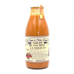 Soupe de saumon à l'oseille, bouteille de 97cl.