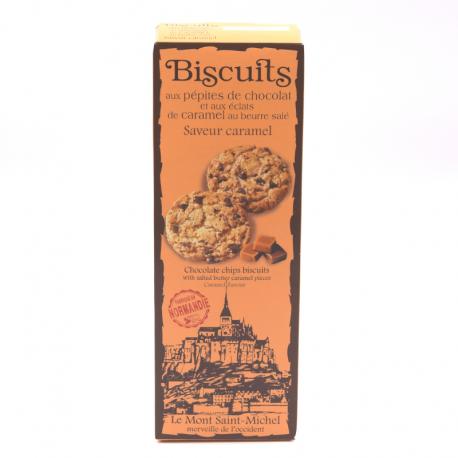 Biscuits aux pépites de chocolats et aux éclats de caramel au beurre salé