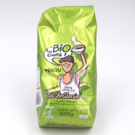 "Café ""Bio du Pérou"" 250 g Brûlerie de L'Orne"